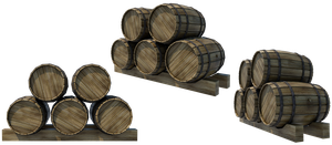 Wooden Barrels 3, PNG by fumar-porros