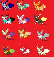 Eevee adoptables-CLOSED by DigiPikachuX