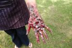 Wounded hand makeup by Celtic-balverine