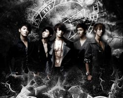DBSK in Black by shadows-owner