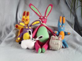 Pschobunny Family by HypotheticalTextiles