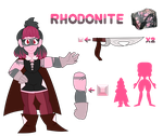 Rhodonite *new gemsona/gem OC* by sharksicle