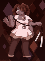 A Rose Quartz and an Amethyst makes... by ErinPtah