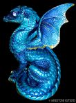 Blue dragon by Reptangle