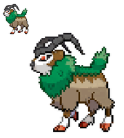 Gogoat Sprite by TacoParty125