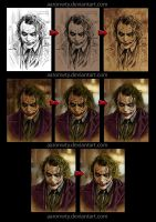 Joker painting process by aaronwty