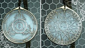 Pentacle of Mercury and Saturn Greater Key by TimforShade