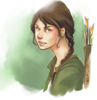 katniss sketch by martinacecilia
