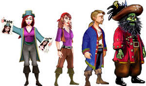 Monkey Island 2 Cast by Irishmile