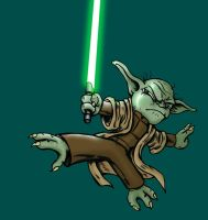 Yoda colored he is by CptMunta