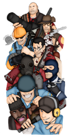 Team Fortress 2 Team Up by Blackmoonrose13