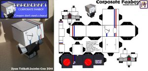 Papercraft: Corporate Fanboy by PixelMagus