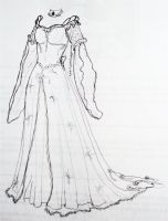Wedding Dress Design pt. 3 by kamiiyu