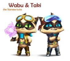 Game design: Wabu and Taki by IvikN