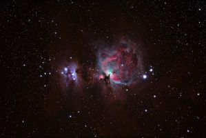 Orion Nebula and HII region by DoomWillFindYou