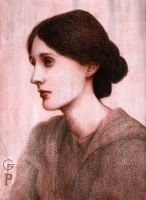 Virginia Woolf (commission) by Fabiano777