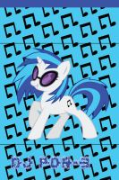 DJ PON-3 (Vinyl Scratch) iPhone 4 Wallpaper by AceofPonies