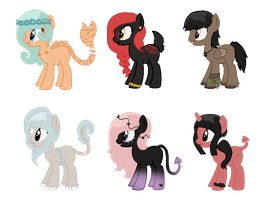 Song Inspired Pony Adopts CLOSED (Cheap) 5 by acervine