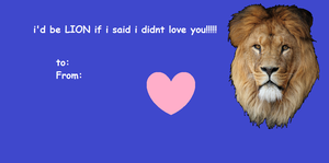 Lion pun valentines day card by skuIIer