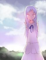 Menma fan art from Anohana by Hamzilla15