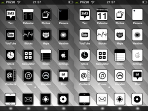 Black and White iPhone Themes
