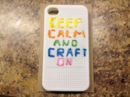 Keep calm and craft on iPhone 4S case!!! by muffinthehamster11
