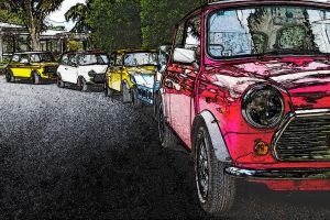 Minis all in a row by hughtomlinson