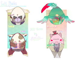 FARM ANIMAL Egg Auctions! [ Full Bodies ] CLOSED by Bitschi