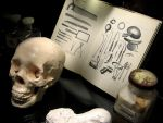 skull and book by andricongirl