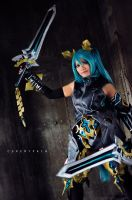 Hatsune Miku Armored FanArt. by cure-pain