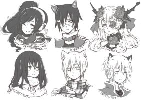 ::NOV FREE HEADSHOT SKETCHES/DRAWING:: by ChiakiAutumn