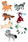 Canine Adopts OPEN by AlphaLunaWhiteWolf