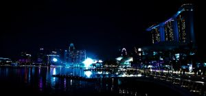 Night View of Marina Bay by rioism