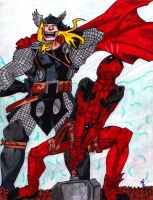 Fun Times With Deadpool n' Thor by FrenzyAtDaClub911