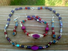 Colors of Love Beaded set by WyckedDreamsDesigns