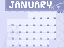 :January Calendar lol: by PrePAWSterous