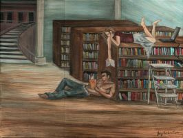 Library :) by 3ampainter