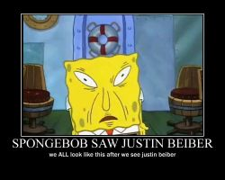 Spongebob Saw justin beiber by Princess-Skylight