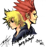 Nomura Drawing: Roxas and Axel by fridayivy