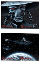 Topps CW sketch cards pt XI by AstroVisionary