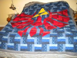 Triforce Shield Quilt by lizzy9046