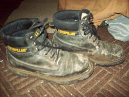 The Flagwoman's Work Boots by DraftHorseTrainer
