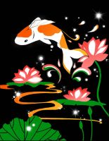Koi Pond Just for Fun by rltan888