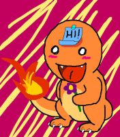 Kawaii Charmander by zafara1222