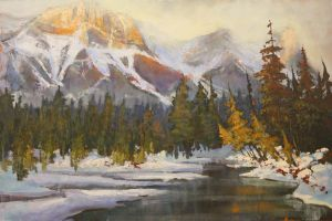 Canmore's Creek by artistwilder