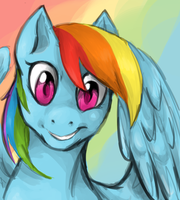 Rainbow Dash by RessQ