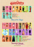 Katy Perry outfits by Marisflowers