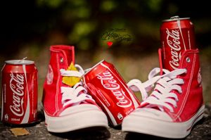 Sneakers-Coca Cola by keillly