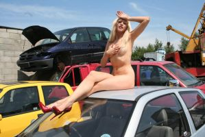 Red hot sales girl by Singingnaturist