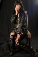 Valerie in leather 2 by vincepontarelli